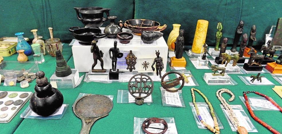 Un empresario de Murcia expolió más de un millón de euros en piezas arqueológicas