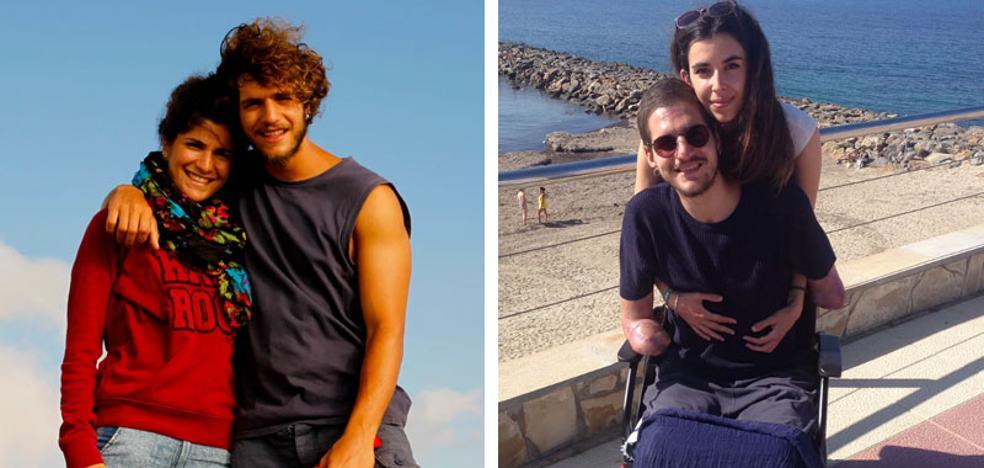 El joven italiano que perdió los brazos y las piernas en Murcia por una meningitis pide ayuda para recuperar la movilidad