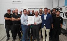 Premio Volkswagen 'Best of 2017' para Huertas Motor Cartagena