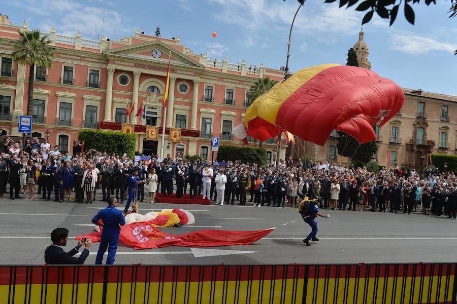 Fidelidad a la bandera en Murcia