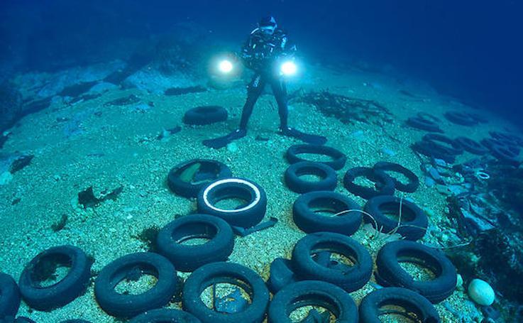 Basura marina en las profundidades