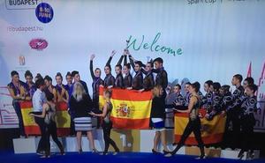 El Rítmica Cartagena revalida el título mundial senior mixto en Hungría
