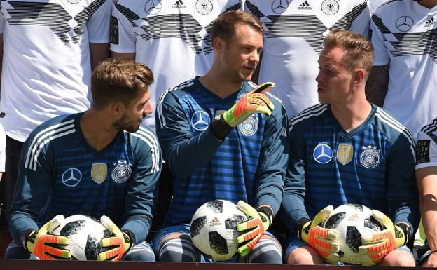 Kevin Trapp, Manuel Neuer y Marc-Andre Ter Stege.