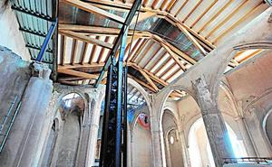 La iglesia de Santa María deja de estar a cielo descubierto