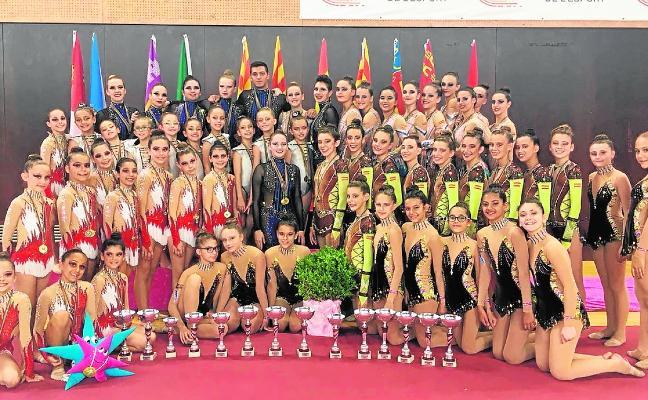 Las gimnastas cartageneras mandan en la Copa de España