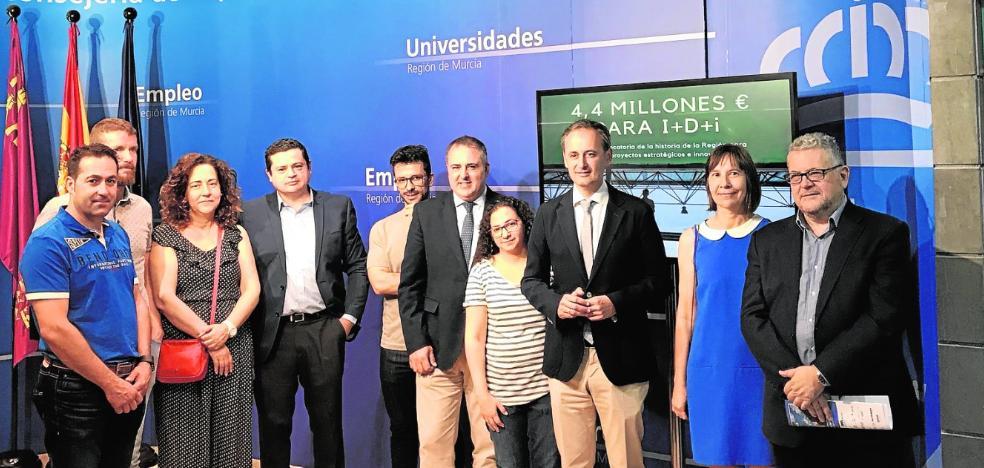 La Comunidad duplica con 4,4 millones de euros los fondos para proyectos de I+D+i