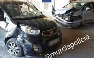 Aparatoso accidente en el túnel de la avenida de Europa de Murcia
