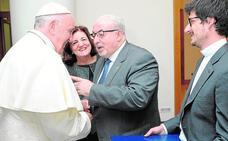 José Luis Mendoza, en misa privada con el Papa