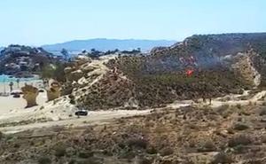 Controlan un incendio forestal en Bolnuevo