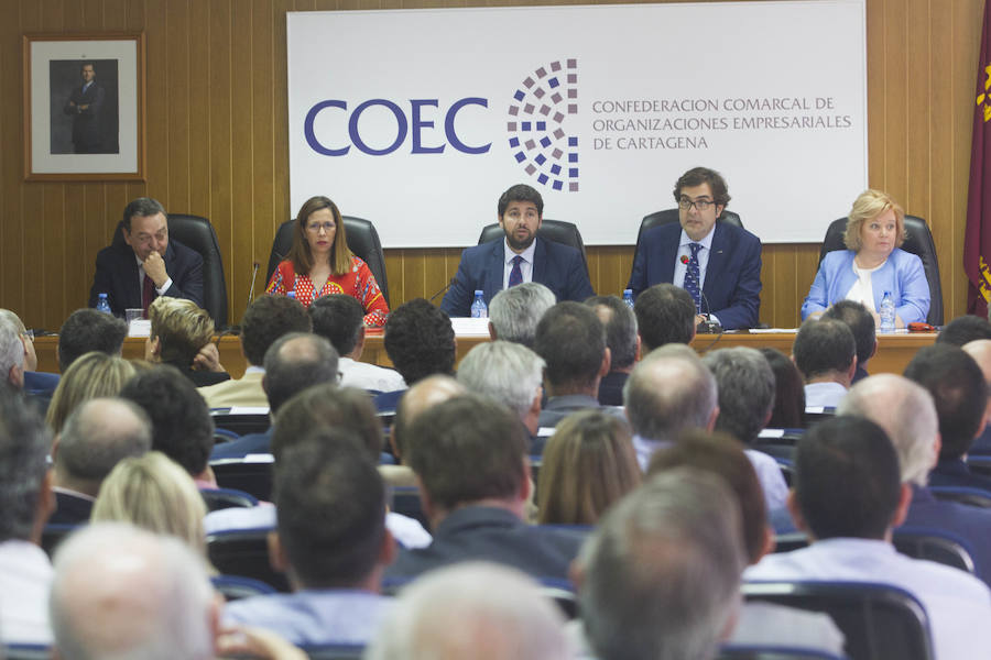 COEC subraya la «decepción con el ritmo lento» de las infraestructuras en Cartagena