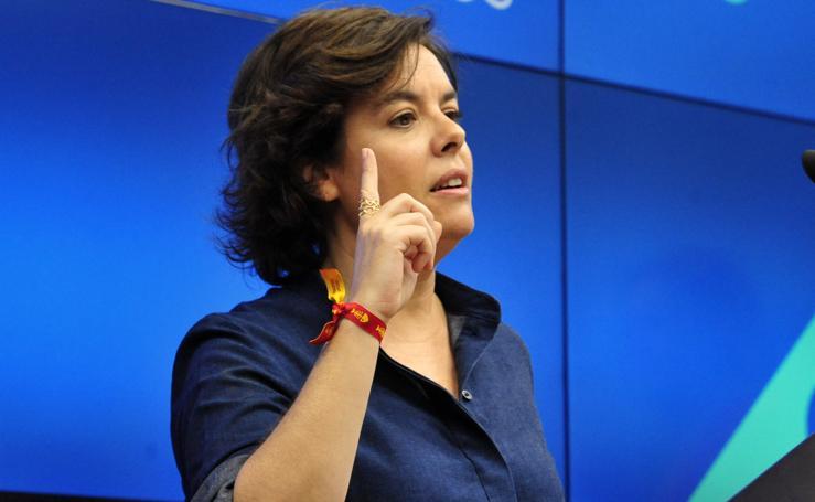 Soraya Sáenz de Santamaría presenta en Murcia su proyecto para suceder a Rajoy
