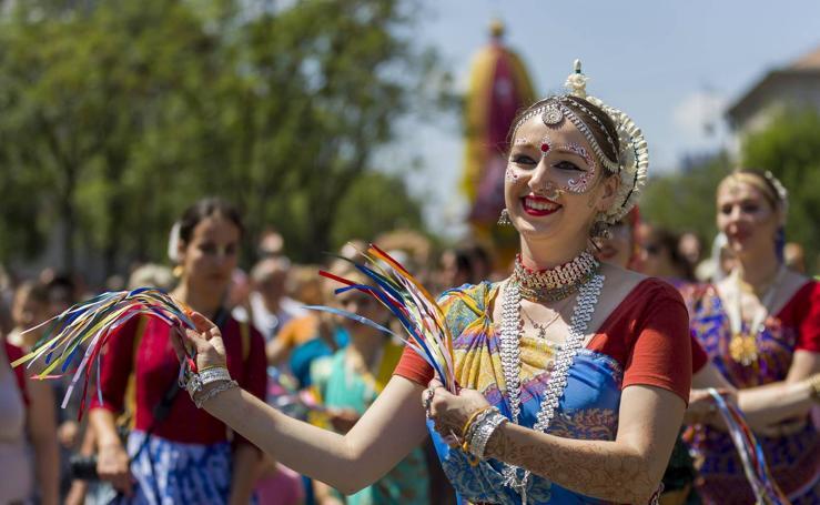 Budapest honra al dios Krisna