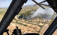Efectivos del Plan Infomur dan por controlado el incendio forestal declarado en Bullas