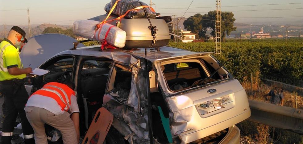 Tres accidentes en San Javier, Abarán y Santomera se saldan con nueve heridos