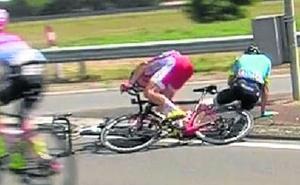 Luis León sufre rotura de codo y de cuatro costillas tras la caída que le ha costado el Tour