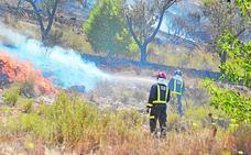 Arden ocho hectáreas del Cerro del Oro