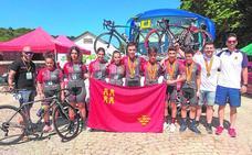 Botín para los ciclistas de la selección murciana en el Nacional de Ourense