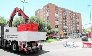 Una obra de Hidrogea corta una semana el tráfico en Ciudad Jardín