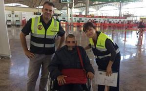 La gestión del Semas y el Consulado logra que un indigente regrese a su país natal