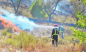 Detenida una persona como presunta autora de un incendio en el Cerro del Oro