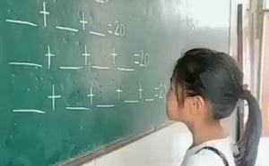 Internet se rinde ante la lógica y creatividad de una niña frente a las matemáticas
