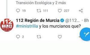 El 112 atribuye a un «error humano» el tuit en el que llamó «ministrilla» a Teresa Ribera