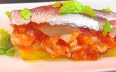 Montadito de bacalao y sardinas