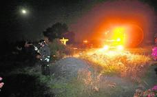 Buscan al pirómano que ha incendiado tres veces la ladera del castillo de Lorca en 48 horas