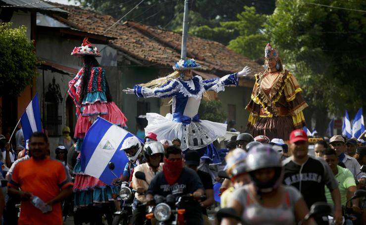 Marcha de la burla en Nicaragua