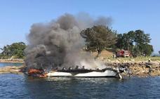 Fallece uno de los heridos en el incendio del catamarán de Pontevedra