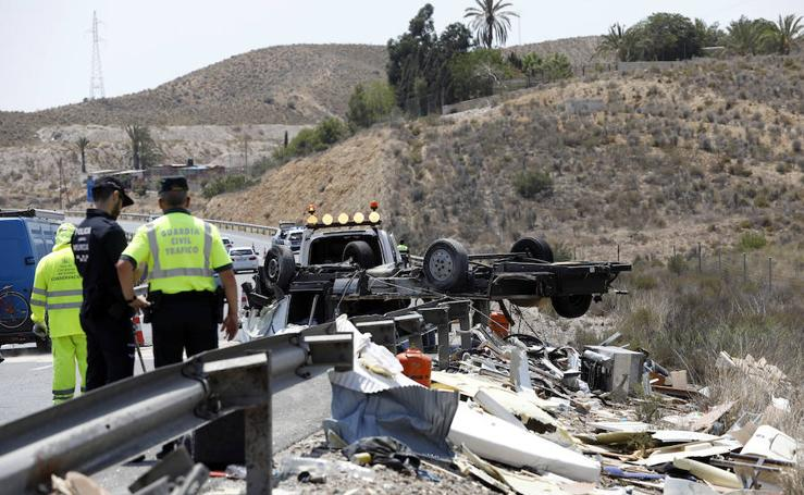 Accidente múltiple en Cobatillas
