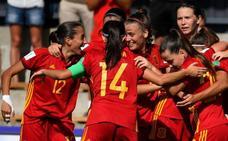 Brillante debut de España con un 'hat-trick' de Patri Guijarro
