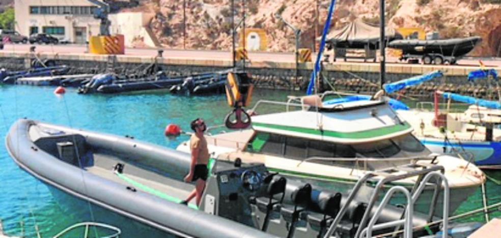 Una 'goma' de los traficantes de hachís permitirá adiestrar a infantes de marina