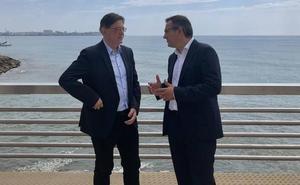 El presidente valenciano y el líder del PSRM creen que el Trasvase es «irrenunciable»