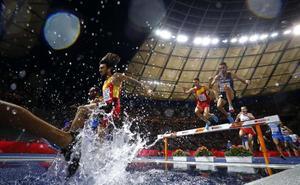 Fernando Carro, plata en 3.000 metros obstáculos