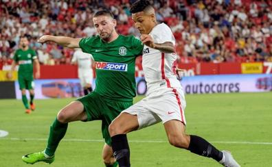 El Sevilla firma una inquietante mínima victoria para la vuelta