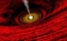 Había una vez, dos agujeros negros que estallaron