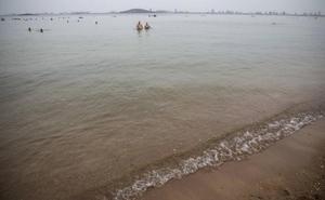 La transparencia media del Mar Menor sube hasta los 4,49 metros, pese al aumento de temperatura