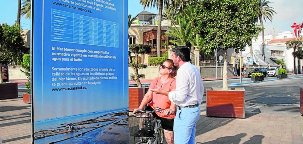 Cuatro carteles informarán puntualmente sobre el estado de la laguna