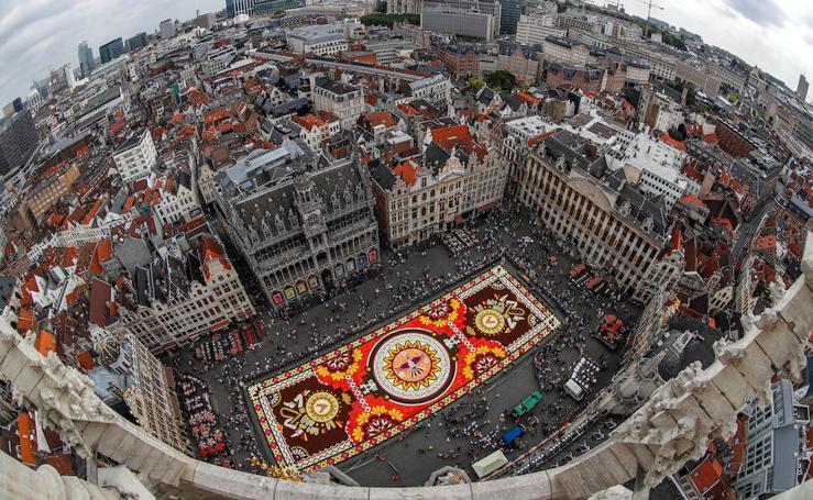 Las flores toman la Grand Place