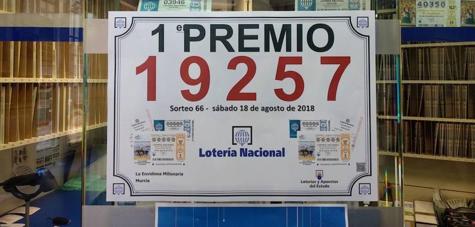 El primer premio de la Lotería Nacional deja 600.000 euros en Murcia