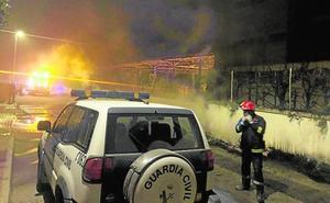 Fuego en un colegio de Sangonera