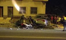 Aparatoso accidente de tráfico en Aljucer