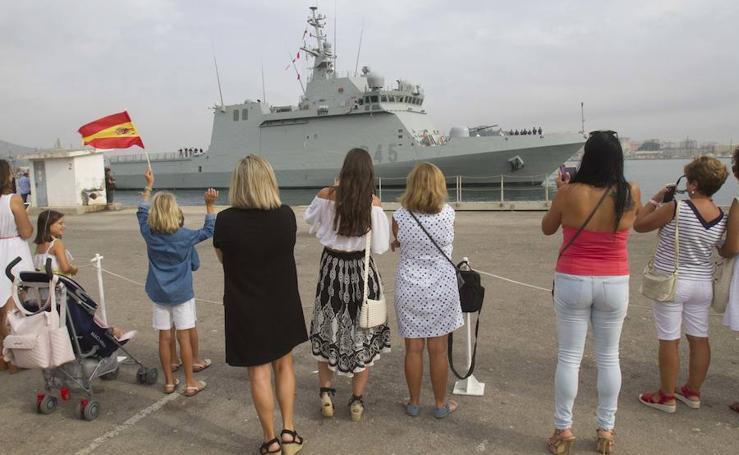 El buque de acción marítima 'Audaz' llega a Cartagena