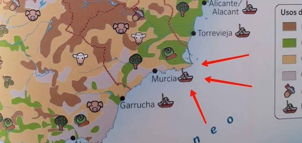 Los libros de Primaria de centenares de alumnos confunden Cartagena con Murcia