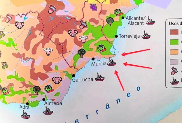 Mapa De Cartagena Murcia.Libros De Primaria Situan Murcia En La Costa En Lugar De