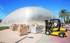 El nuevo parqué será instalado en diez días en la pista central del Palacio de Deportes