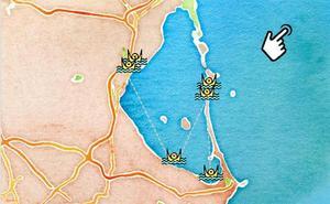 El mapa de los ahogados en la Región