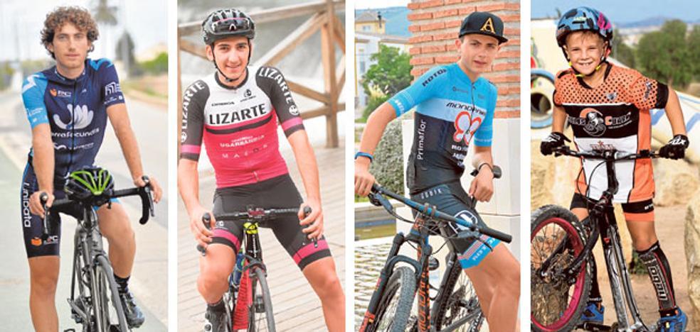 El espíritu del eterno Valverde alumbra a la nueva generación regional de ciclistas