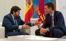 Sánchez solo garantiza a Miras que seguirá cumpliendo la ley del Trasvase